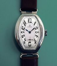 Omega Vintage 1935 Sterling Silver New Old Stock Large Men's Watch NOS