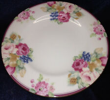 "MIKASA ROSEMEAD BREAD & BUTTER SIDE PLATE 6.75"" DIAMETER CAE16 FLOWERS GOLD"