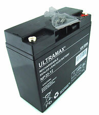 ULTRAMAX NP22-12, 12V 22AH (as 18Ah & 20Ah) EMERGENCY LIGHT LIGHTING BATTERY