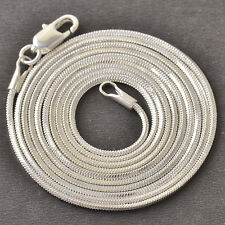 Silver Womens Mens White Gold Plated Punk Womens Snake Chain Necklace,31.5""