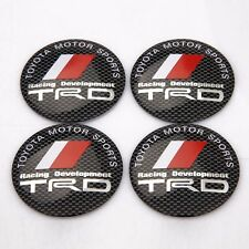 4 PCS 56mm Car Refitting Wheel Center Cap Emblem Badge Sticker For TRD Toyota