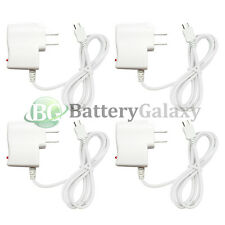 4 White Rapid Micro USB Battery Home Wall Travel Charger For Android Cell Phone