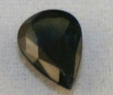 NATURAL BLACK SAPPHIRE GEMSTONE 5X7 FACETED PEAR 0.6CT COLLECTORS GEM AAA SA50