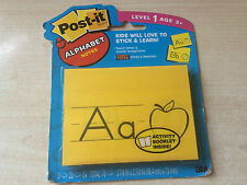 BNIP New 3M Post It Alphabet Notes + Activity Booklet– 78 Notes Teach 26 Letters