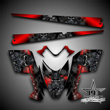 Polaris IQ RMK Shift Dragon Graphics Decal Wrap 05-12 with Tunnel Toxic Red