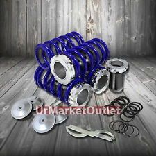 Front/Rear Scaled Black Coilover Blue Lowering Spring For Mazda 90-97 Miata MX5