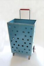 antique grocery cart caddy | vtg mid century grocery wheeled cart deco modern