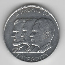 Profile Of Integrity Coin Medal Lincoln Eienhower NIXON! Repub Donation Dollar