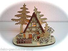 Porta tea light Lampadario tavolo per 1 Luce Lavoratori dei boschi con Cervo