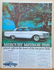 1960 magazine ad for Mercury - 1961 white Meteor 800, the Better Low Price car