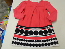 GYMBOREE PURRFECTLY FABULOUS PRETTY PLEATED LS  KNIT DRESS  GIRLS  5  6   EUC