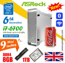 Intel i7-6700 4GHz Wifi Hd 530 Asrock mini PC de escritorio 8GB Ram 1TB HDD PC para juegos