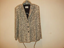 LADIES JOBIS BLACK AND WHITE WOOL JACKET SIZE EU 40 UK 14