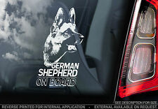 German Shepherd - Dog Car Window Sticker - Deutscher Schäfer Alsation Sign -TYP1