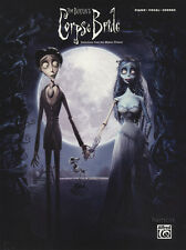 Tim Burton's Corpse Bride Piano Vocal Chords Sheet Music Book Motion Picture