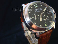 44mm Parnis Automatic Power reserve Regatta Brushed green mark texture MM27