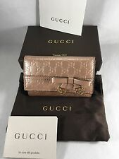 AUTHENTIC NWT GUCCI Micro GG Pink Patent Leather Key Holder Case 322322 +receipt