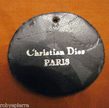 vendo rara ETICHETTA ORIGINALE IN PELLE CHRISTIAN DIOR PARIS OVALE
