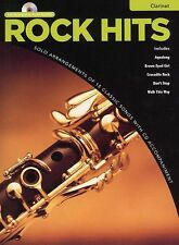 Rock Hits Instrumental Playalong Clarinet Learn to Play Sheet Music Book & CD