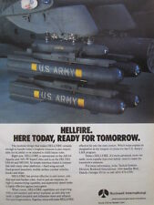8/1991 PUB ROCKWELL MISSILE SYSTEMS HELLFIRE ANTI TANK US ARMY HELICOPTER AD
