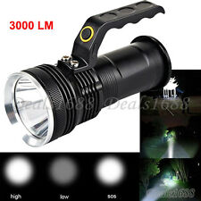 CREE XM-L 3000LM Police Tactical LED Flashlight Rechargeable Torch Lamp US