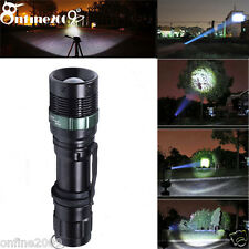 High Power 3000Lumen Zoomable CREE LED Flashlight Torch Zoom Light Adjustable