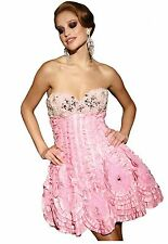 NWT Terani P680 Pink jeweled/beaded short formal party dress, Size 4, Homecoming