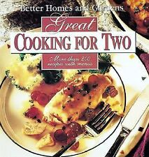Better Homes and Gardens Great Cooking for Two Cookbook Hardcover BOOK