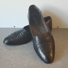 EMILIO FRANCO Loafers Men's 7.5 Black Leather Slip On Moccasin Made in Italy