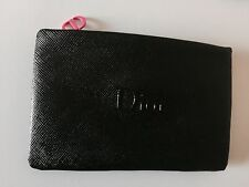 DIOR CD BLACK BEAUTY MAKEUP / COSMETICS / CLUTCH BAG WITH PINK CD ZIP~ BRAND NEW