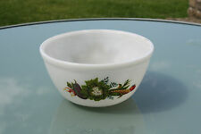 Vintage JAJ / Pyrex Glass Large Pudding Basin Bowl – Vegetables Design – Retro!