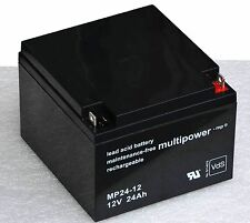 MULTIPOWER BATTERIE RECHARGEABLE 12V 24AH MP24-12 BATTERIE PLOMB BATTERY FOR