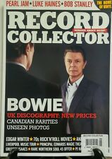 Record Collector UK Aug 2016 David Bowie Pearl Jam Discography FREE SHIPPING sb