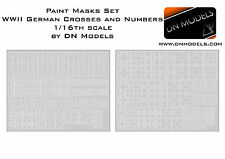 Paint Mask set 1/16 German Crosses and Numbers Stencil WWII Nazi Early + Late