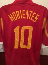 Spain Football Shirt-10 Morientes Size XL