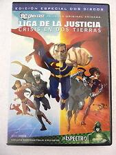 DVD Liga de la Justicia,Crisis en Dos Tierras 2 Discos