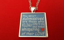 BDSM JEWELRY Necklace Collar *  Submissives Whisper of Their Love * Fetish Kink