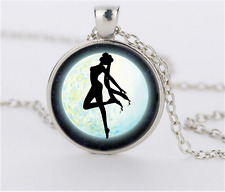 NEW Silver Anime Sailor Moon Jewelry Glass Dome Pendant Necklace#CJ53