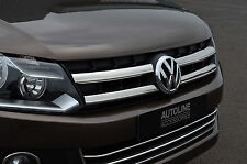 CHROME FRONT GRILLE ACCENT GRILL TRIM SET COVER STEEL FOR VW VOLKSWAGEN AMAROK
