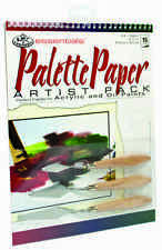 ART SET A4 Spiral Bound Arcylic- Oil painting pad & 3 palette knives knife RD515
