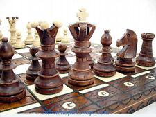 MAGNIFIQUE JEU D'ECHEC EN BOIS VERNI - NEUF Wooden Chess Ajedrez ROYAL DE LUX