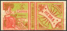 Philippine LA CANTABRIA HEBRA Cigarette Label