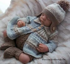 DK Baby Knitting Pattern 38 TO KNIT Baby Boys or Reborn Doll 'Noah'  Pattern