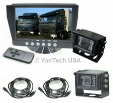 """TWO CAMERA 7"""" REAR VIEW BACKUP SYSTEM TRUCK TRAILER RV - TWO 120° CCD CAMERAS"""