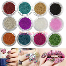 12 Colors Caviar mini Balls Micro Beads Nail Art Acrylic UV Gel 3D Decoration