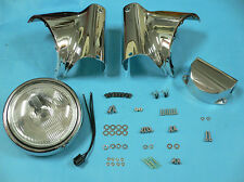 Chrome Headlamp Cowl Kit for Harley Davidson motorcycles, KIT, by V-Twin