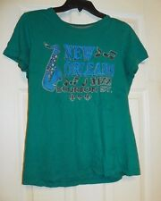 Nike Brand Size Youth Large New Orleans Jazz Blue T-Shirt
