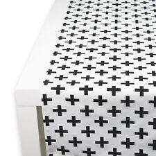 APART Tischläufer Tablerunner CROSS ca. 40/150 cm weiß/schwarz Baumwollstoff