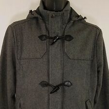 Forever 21 Wool Toggle Jacket Duffel Duffle Coat Hooded TwentyOne Men Sz M EUC