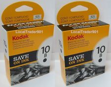 2 Kodak Black Ink Inkjet Cartridges 10 10B Multi-Pack 1163641 OEM Genuine